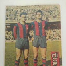 Coleccionismo deportivo: REVISTA DEPORTIVA DICEN, 13 DE DICIEMBRE DE 1958, VERGÉS Y GENSANA, C.F BARCELONA. Lote 147632910