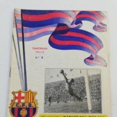Coleccionismo deportivo: PROGRAMA OFICIAL FC BARCELONA MALAGA CD LIGA 1952-53 52-53 28 SEPTIEMBRE 1952 BARÇA FUTBOL NUMERO 2.. Lote 148339021
