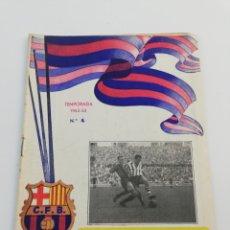 Coleccionismo deportivo: PROGRAMA OFICIAL FC BARCELONA REAL SOCIEDAD, LIGA 1952-53, NUMERO 4, BARÇA FUTBOL, 2 NOVIEMBRE 1952.. Lote 148349796