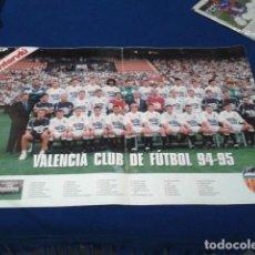 Coleccionismo deportivo: POSTER GRANDE INTERVIU ( VALENCIA C.F ) 94 - 95 FASCICULO 11 HISTORIA DE LOS CLUBES DE 1ª DIVISION . Lote 148637786