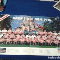 Coleccionismo deportivo: POSTER GRANDE INTERVIU (ATHLETIC BILBAO) 94 - 95 FASCICULO 7 HISTORIA DE LOS CLUBES DE 1ª DIVISION . Lote 148638038