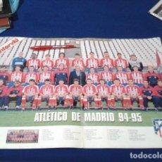 Coleccionismo deportivo: POSTER GRANDE INTERVIU (ATLETICO MADRID) 94 - 95 FASCICULO 18 HISTORIA DE LOS CLUBES DE 1ª DIVISION . Lote 148638246