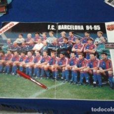 Coleccionismo deportivo: POSTER GRANDE INTERVIU ( F.C. BARCELO) 94 - 95 FASCICULO Nº 3 HISTORIA DE LOS CLUBES DE 1ª DIVISION . Lote 148638430