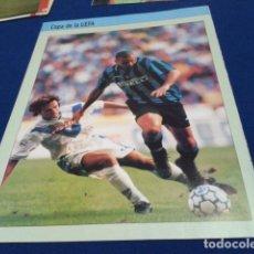 Collezionismo sportivo: MINI POSTER FUTBOL ( RONALDO NAZARIO DE LIMA ) EN EL INTER COPA DE LA UEFA. Lote 148650526