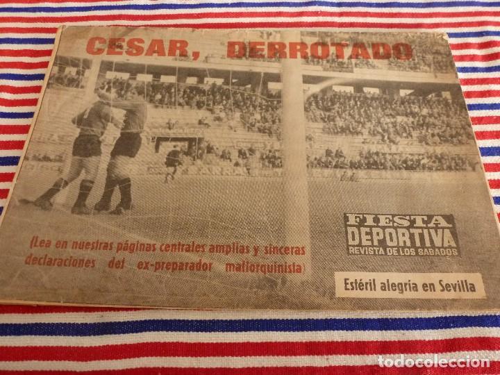 FIESTA DEPORTIVA Nº:324(11-12-65)SEVILLA 3 MALLORCA 1,CONSTANCIA 3 CADIZ 1,ADIÓS CÉSAR (Coleccionismo Deportivo - Revistas y Periódicos - otros Fútbol)