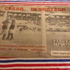 Coleccionismo deportivo: FIESTA DEPORTIVA Nº:324(11-12-65)SEVILLA 3 MALLORCA 1,CONSTANCIA 3 CADIZ 1,ADIÓS CÉSAR. Lote 148767710