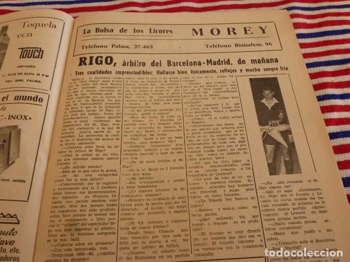 Coleccionismo deportivo: FIESTA DEPORTIVA Nº:339(26-3-66)RIGO Y EL R.MADRID-BARÇA,CONSTANCIA-MESTALLA Y MALAGA-MALLORCA - Foto 5 - 148811418