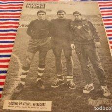 Coleccionismo deportivo: FIESTA DEPORTIVA Nº:340(2-4-66)ESPAÑA MILITAR 1 PORTUGAL MILITAR 0,EUSEBIO(BENFICA). Lote 148812070