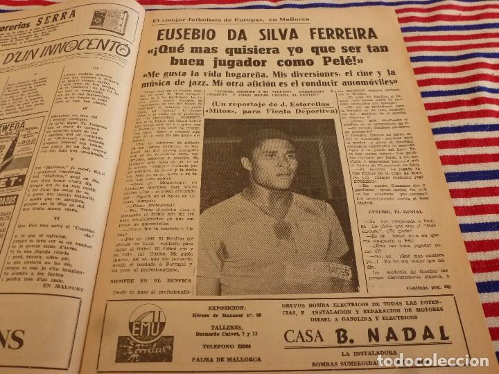 Coleccionismo deportivo: FIESTA DEPORTIVA Nº:340(2-4-66)ESPAÑA MILITAR 1 PORTUGAL MILITAR 0,EUSEBIO(BENFICA) - Foto 3 - 148812070
