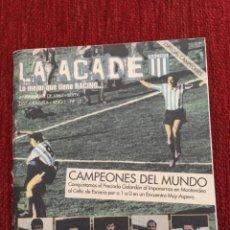 Coleccionismo deportivo: RP R5372 LIBRITO LA ACADE ESPECIAL CAMPEONES DEL MUNDO RACING AVELLANEDA 1967. Lote 148814582