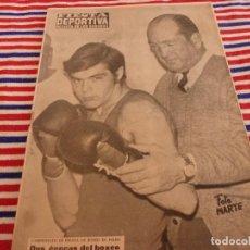 Collezionismo sportivo: FIESTA DEPORTIVA Nº:450(11-5-68) IGNACIO ARA(BOXEO)GABRIEL MASCARÁ(CICLISMO). Lote 148863778