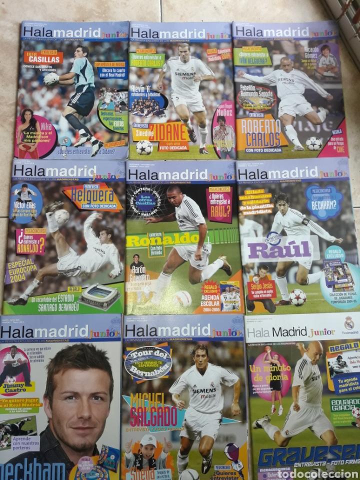 LOTE REVISTAS HALA MADRID JUNIOR DEL 1 AL 9 (Coleccionismo Deportivo - Revistas y Periódicos - otros Fútbol)