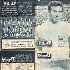 Coleccionismo deportivo: LOTE 4 REVISTAS REAL MADRID AÑO 1966. NÚMEROS 189, 190, 191 Y 194.. Lote 149462386
