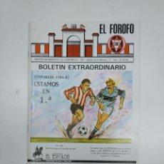 Coleccionismo deportivo: EL FOROFO. BOLETIN EXTRAORDINARIO Nº 144. CLUB DEPORTIVO LOGROÑES. TEMPORADA 1986-87. TDKR35. Lote 150950638