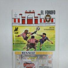 Coleccionismo deportivo: EL FOROFO. BOLETIN EXTRAORDINARIO Nº 187. CLUB DEPORTIVO LOGROÑES. TEMPORADA 1987-88. TDKR35. Lote 150952374