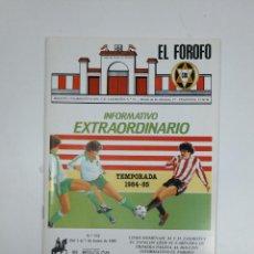 Coleccionismo deportivo: EL FOROFO. BOLETIN EXTRAORDINARIO Nº 55. CLUB DEPORTIVO LOGROÑES. TEMPORADA 1984-85. TDKR35. Lote 150952666