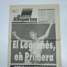 Coleccionismo deportivo: EL LOGROÑES EN PRIMERA. PERIODICO 15 DE JUNIO DE 1987. SUPLEMENTO ESPECIAL LA RIOJA. TDKPR3. Lote 150955206