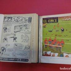 Coleccionismo deportivo: EL ONCE. PERIÓDICO DE FÚTBOL. AÑO 1952 COMPLETO EN DOS TOMOS. INCLUYE ALMANAQUE 1953. Lote 151484118