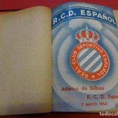 Coleccionismo deportivo: TOMO ENCUADERNADO FUTBOL (RCD ESPAÑOL)-TOROS-LUCHA LIBRE Y VARIOS. AÑOS 1950S (VER FOTOS). Lote 151484850