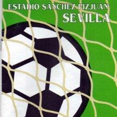 Coleccionismo deportivo: PROGRAMA OFICIAL SELECCIÓN ESPAÑOLA - BÉLGICA 1995, SEVILLA , SANCHEZ PIZJUÁN. Lote 151635462