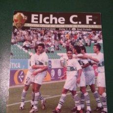 Coleccionismo deportivo: PROGRAMA REVISTA ELCHE CF - REAL OVIEDO TEMP. 2002-2003. Lote 151846973