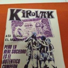 Coleccionismo deportivo: KIROLAK Nº 9 -1980 ASI GANA EL MADRID PERO LA REAL SOCIEDAD ES EL AUTENTICO CAMPEON . Lote 151848282