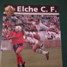 Coleccionismo deportivo: PROGRAMA REVISTA ELCHE CF - R.SPORTING DE GIJÓN TEMP. 2002-2003. Lote 151850510