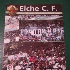Coleccionismo deportivo: PROGRAMA REVISTA ELCHE CF - U.D. SALAMANCA TEMP. 2002-2003. Lote 151850888
