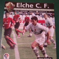 Coleccionismo deportivo: PROGRAMA REVISTA ELCHE CF - LEVANTE U.D. TEMP. 2002-2003. Lote 151851545