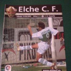 Coleccionismo deportivo: PROGRAMA REVISTA ELCHE CF - C.D.TENERIFE TEMP. 2002-2003. Lote 151852256