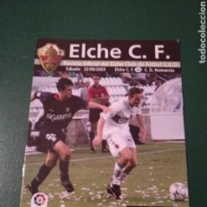 Coleccionismo deportivo: PROGRAMA REVISTA ELCHE CF - C.D.NUMANCIA DE SORIA TEMP. 2002-2003. Lote 151853649