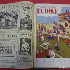 Coleccionismo deportivo: EL ONCE. PERIÓDICO DE FÚTBOL. AÑO 1951. SEGUNDO SEMESTRE COMPLETO. INCLUYE ALMANAQUE 1952. Lote 152340202