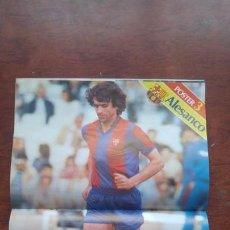 Coleccionismo deportivo: REVISTA BARCELONISTA BARÇA Nº852 1981 POSTER ALESANCO CRUYFF SCHUSTER LOS COCHES DE LOS JUGADORES. Lote 152436274