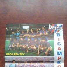 Coleccionismo deportivo: REVISTA BARCELONISTA BARÇA Nº16 1983 POSTER BI-CAMPEONES COPA DEL REY Y COPA DE LA LIGA. Lote 152442758