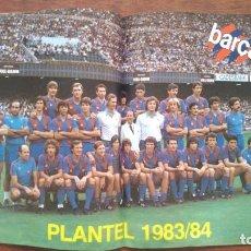 Coleccionismo deportivo: REVISTA BARCELONISTA BARÇA Nº17 1983 POSTER PLANTEL PLANTILLA 1983/1984 MARADONA MENOTTI. Lote 152443386
