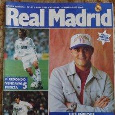 Collectionnisme sportif: REVISTA OFICIAL DEL REAL MADRID CLUB DE FÚTBOL. Nº 67 ABRIL 1995. LUIS ENRIQUE. 200GR. Lote 152455006