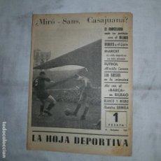 Coleccionismo deportivo: LA HOJA DEPORTIVA - MIR-SANS CASAJUANA - 1953. Lote 152575526
