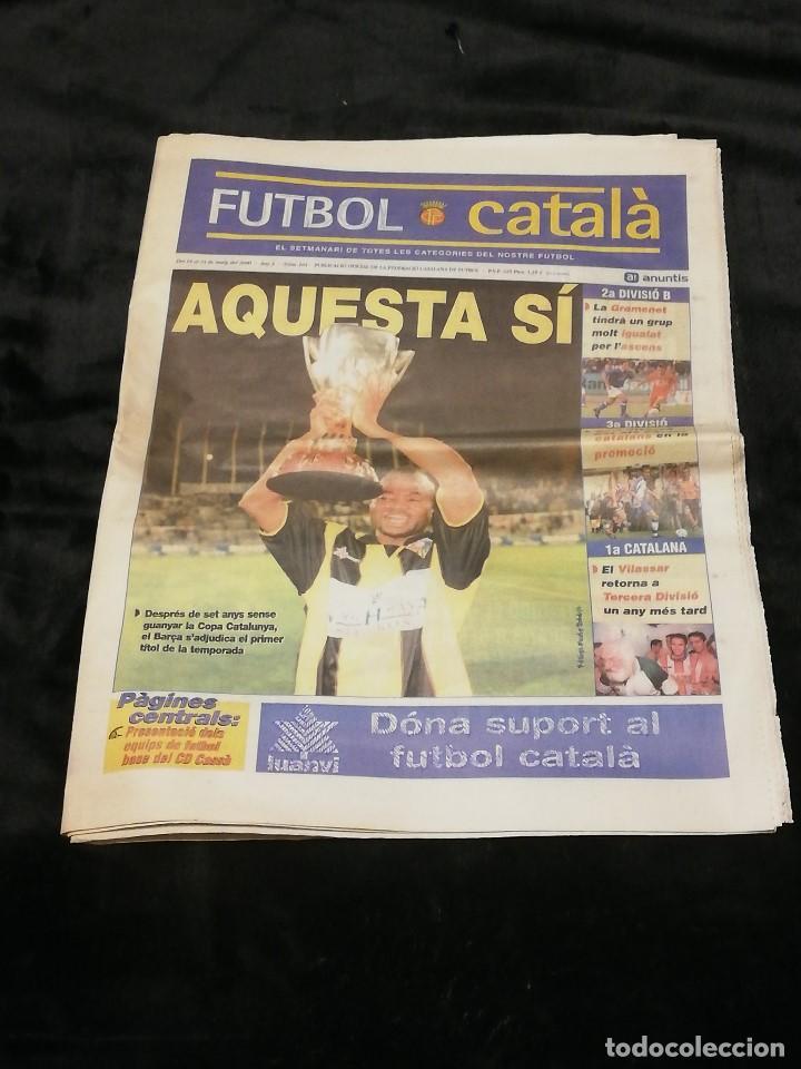 SEMANARIO FUTBOL CATALÀ Nº 104 · DEL 18 AL 24 DE MAYO DE 2000 · EN PORTADA: AMUNIKE (FC BARCELONA) (Coleccionismo Deportivo - Revistas y Periódicos - otros Fútbol)