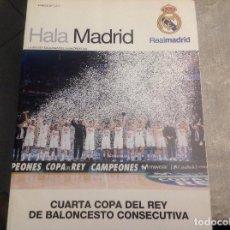 Coleccionismo deportivo: REVISTA OFICIAL HALA MADRID DEL EQUIPO DE FÚTBOL REAL MADRID. NUMERO 62. ACM. Lote 152817430