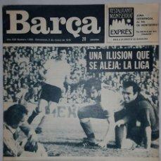 Coleccionismo deportivo: REVISTA O PERIODICO BARÇA Nº 1059 2 MARZO 1976 PUBLICACIONES BLAUGRANA. Lote 152920322