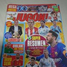 Coleccionismo deportivo: REVISTA JUGON 138 CON POSTER DE MESSI. Lote 152975540