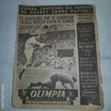Coleccionismo deportivo: OLIMPIA Nº 87 . 1954 EL SEMANARIO GRAFICO DEPORTIVO DE MAYOR CIRCULACION EN CATALUNYA. Lote 153482922