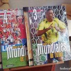 Coleccionismo deportivo: COLECCIONABLE: MUNDIALES Y EUROCOPAS - COLECCION COMPLETA E IMPRESIONANTE - TORNEOS FUTBOL. Lote 153721734