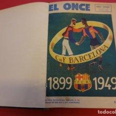 Coleccionismo deportivo: EL ONCE. TOMO ENCUADERNADO CON NÚMEROS 301 A 336 + Nº 287 Y EXTRAORDINARIO BODAS DE ORO. Lote 153828986