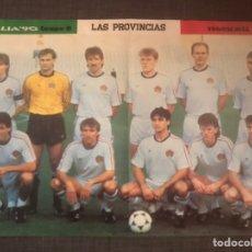Coleccionismo deportivo: PÓSTER FÚTBOL ANTIGUA YUGOSLAVIA MUNDIAL 90 - LAS PROVINCIAS AS MARCA DON BALÓN SPORT. Lote 153869340