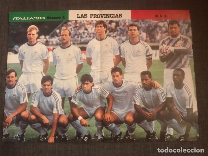 PÓSTER FÚTBOL ESTADOS UNIDOS MUNDIAL ITALIA 90 - LAS PROVINCIAS AS MARCA DON BALÓN SPORT (Coleccionismo Deportivo - Revistas y Periódicos - otros Fútbol)