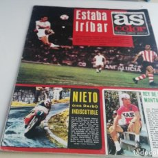 Collectionnisme sportif: ANTIGUA REVISTA DEPORTIVA AS COLOR Nº 108 CON POSTER SPORTING. Lote 154095778