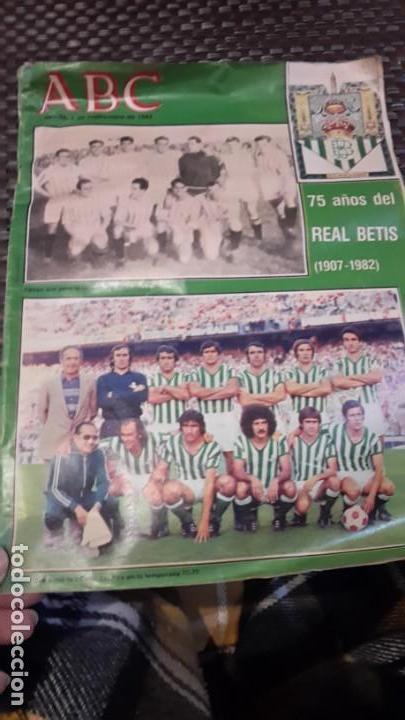 ABC 75 AÑOS DEL REAL BETIS (Coleccionismo Deportivo - Revistas y Periódicos - otros Fútbol)