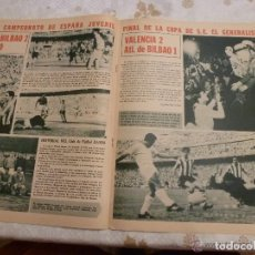 Collectionnisme sportif: R.B.-REV.BARCELONISTA Nº: 118(5-7-67) FINAL COPA VALENCIA 2 BILBAO 1- I TROFEO IBÉRICO BADAJOZ-FOTOS. Lote 154836142