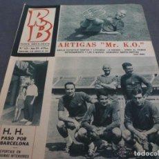 Coleccionismo deportivo: R.B.-REV.BARCELONISTA Nº:123(8-8-67)BARÇA Y SABADELL INICIAN TEMPORADA 67-68-FOTOS. Lote 154839302